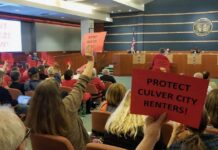 Rent Protection Protestors at City Council Meeting